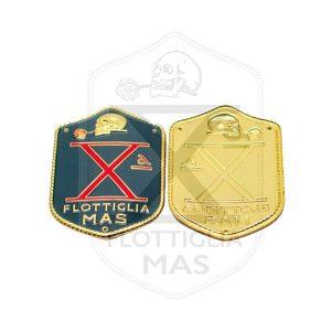 Decima Enameled metal arm plate X Flottiglia Mas