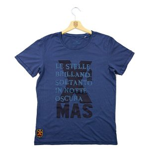 "T-Shirt ""The Stars Shine..."" Btg. Vega - Vintage Navy Blue"