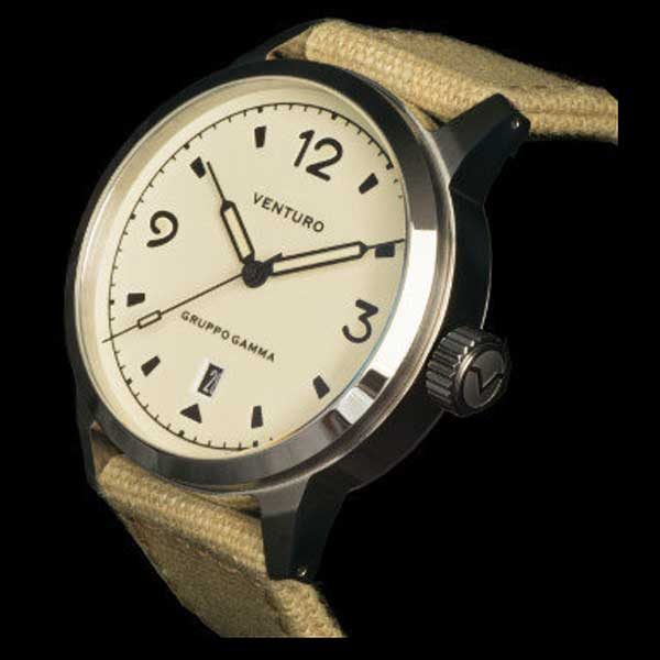 Venturo Field Watch 1 - Cream Full Lume Dial