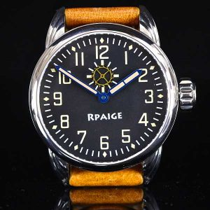 Rpaige Watch Company - Black Military Dial