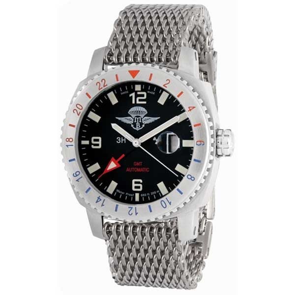 Memphis Belle - Automatic GMT Arrow Watch with Milan Mesh Strap