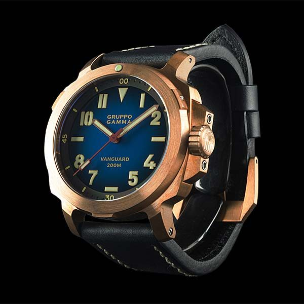 Gruppo Gamma Vanguard Bronze watch - AN-17