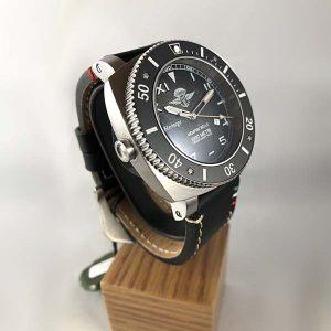 Memphis Belle - Predator Heritage Mille Metri Watch - Black with Nickel Finish